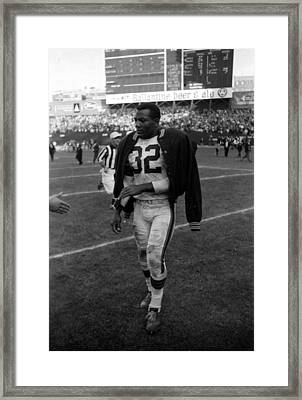 Jim Brown After Game Framed Print by Retro Images Archive