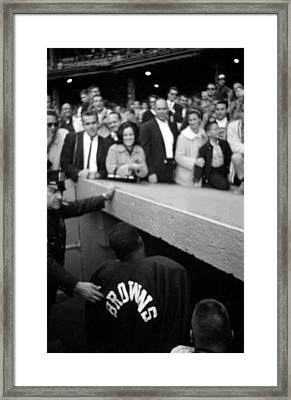 Jim Brown Exiting The Playing Field Framed Print by Retro Images Archive