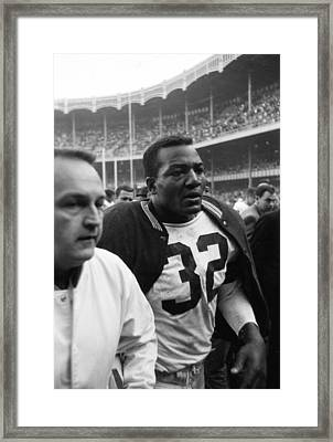 Jim Brown Post Game  Framed Print by Retro Images Archive