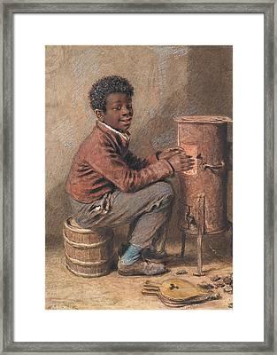 Jim Crow Framed Print by William Henry Hunt
