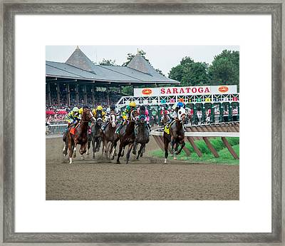 Jim Dandy Stakes Framed Print by William Stephen