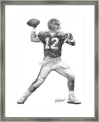 Jim Kelly Framed Print by Harry West