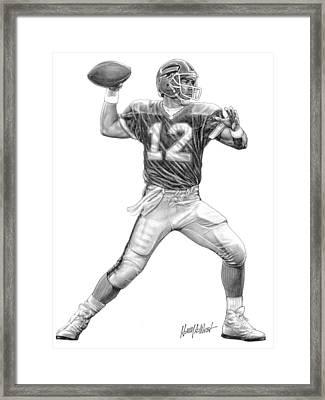 Jim Kelly Framed Print by Harry West