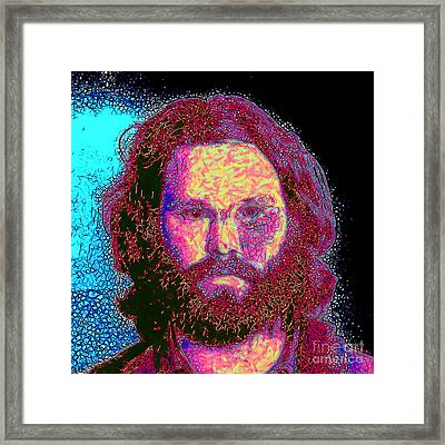Jim Morrison 20130329 Square Framed Print by Wingsdomain Art and Photography