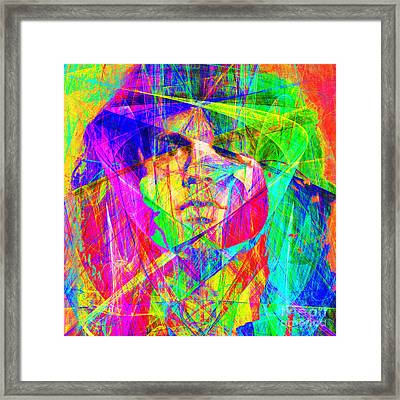 Jim Morrison 20130613 Square Framed Print by Wingsdomain Art and Photography
