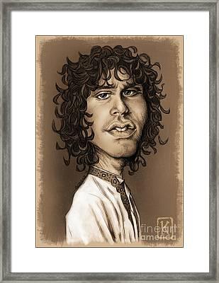 Jim Morrison Framed Print by Andre Koekemoer