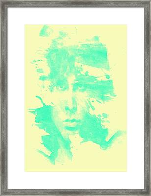Framed Print featuring the digital art Jim Morrison  by Brian Reaves