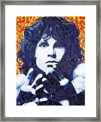 Jim Morrison Chuck Close Style Framed Print