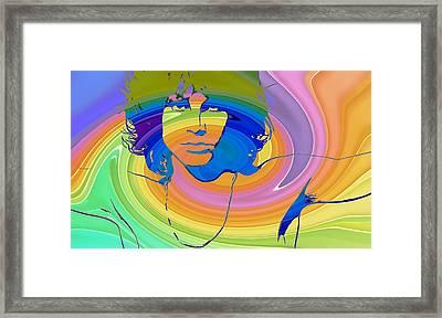 Jim Morrison Color Warp Framed Print by Dan Sproul
