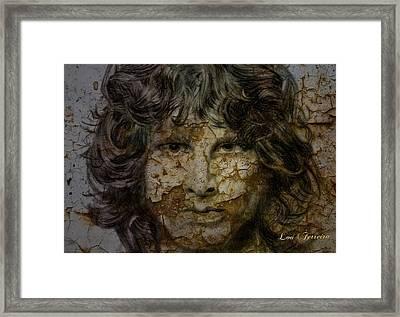 Jim Morrison Framed Print by Louis Ferreira
