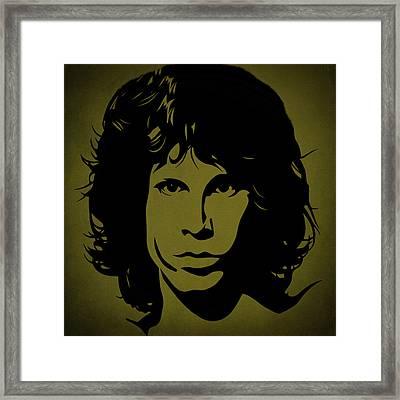 Jim Morrison  Framed Print by Movie Poster Prints