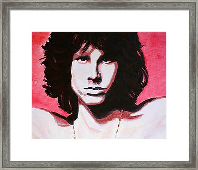 Jim Morrison Of The Doors Framed Print