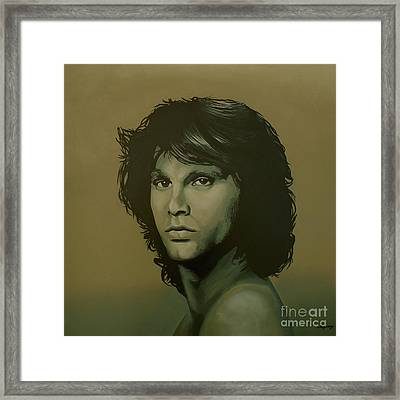 Jim Morrison Painting Framed Print by Paul Meijering