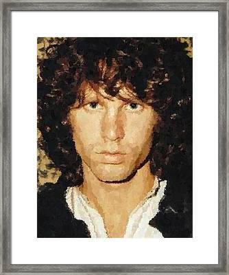 Jim Morrison Portrait Framed Print
