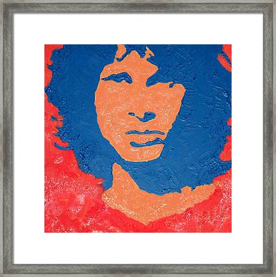 Jim Morrison Seeing Red Framed Print by Robert Margetts