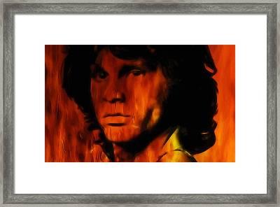 Jim Morrison Framed Print by Steve K