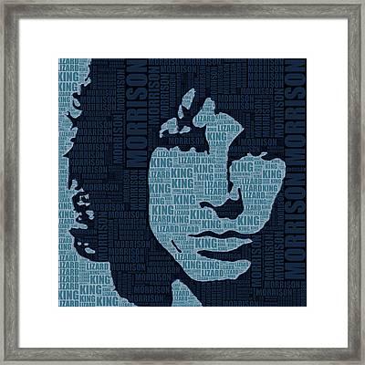 Jim Morrison The Doors Framed Print by Tony Rubino