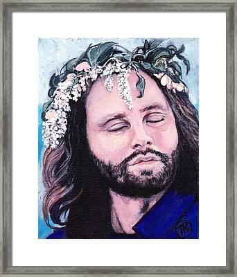 Jim Morrison Framed Print by Tom Roderick