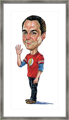 Jim Parsons As Sheldon Cooper Framed Print
