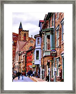 Framed Print featuring the photograph Jim Thorpe Pa Stone Row by Jacqueline M Lewis