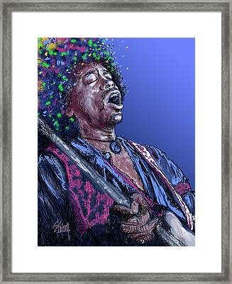 Jimi 3 Framed Print by Stan Kwong