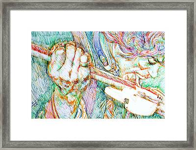 Jimi And His Guitar Framed Print by Fabrizio Cassetta