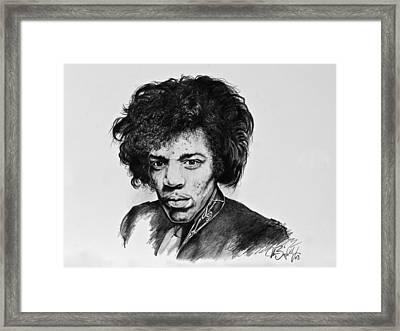 Jimi Framed Print by Art Imago
