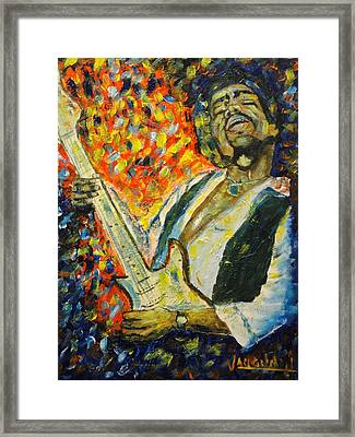 Jimi Framed Print by Charles Vaughn