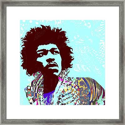 Jimi Framed Print by Cindy Edwards