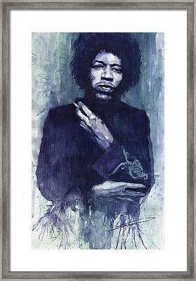 Jimi Hendrix 01 Framed Print
