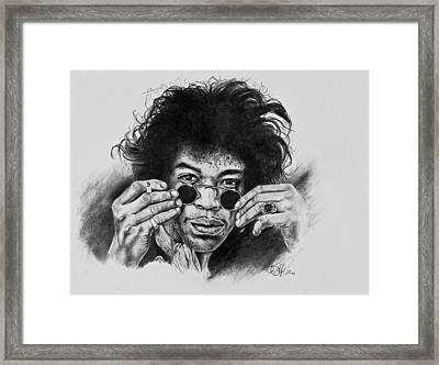 Jimi Hendrix Framed Print by Art Imago