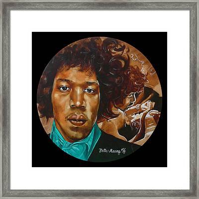 Jimi Hendrix B Framed Print