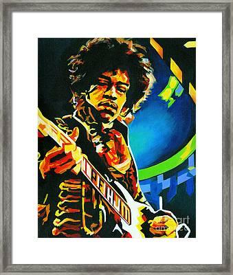 Bold As Love. Jimi Hendrix  Framed Print