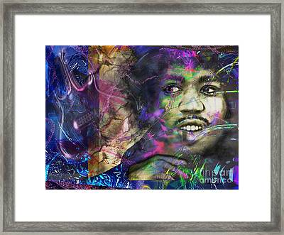 Jimi Hendrix Framed Print by Christine Mayfield