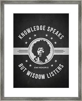 Jimi Hendrix - Dark Framed Print