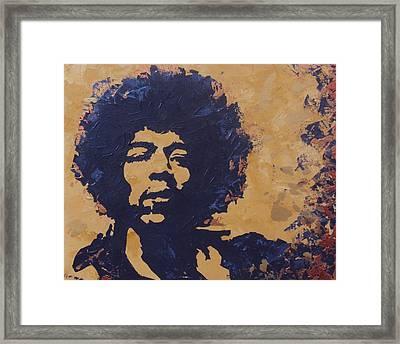 Jimi Hendrix Framed Print by David Shannon