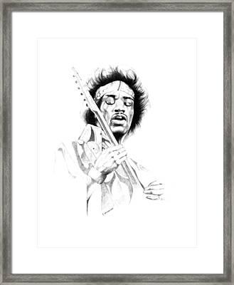 Jimi Hendrix Framed Print by Gordon Van Dusen