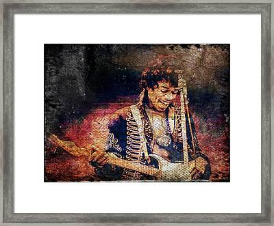 Jimi Hendrix - Guitar Framed Print