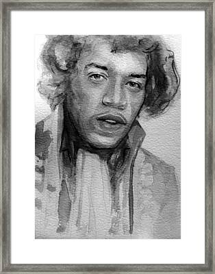Framed Print featuring the painting Jimi Hendrix by Laur Iduc