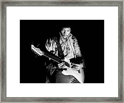 Jimi Hendrix Live 1967 Framed Print by Chris Walter