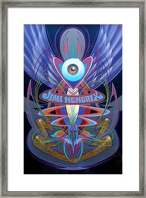 Jimi Hendrix Memorial Framed Print