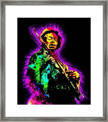 Jimi Hendrix Framed Print by Michael Lee