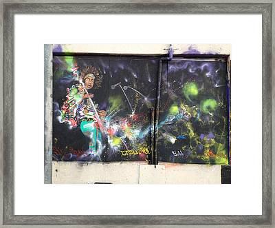 Jimi Hendrix Mural Framed Print by Erik Franco