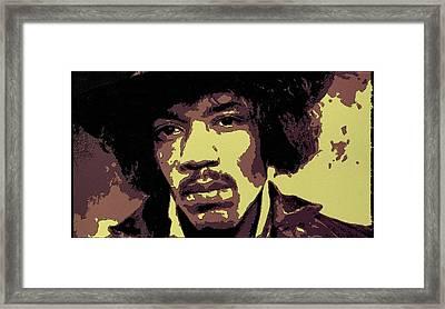 Jimi Hendrix Portrait Art Framed Print