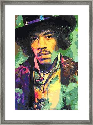 Jimi Hendrix Portrait Framed Print