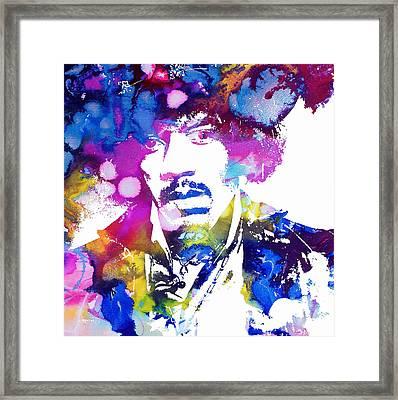 Jimi Hendrix - Stoned Framed Print