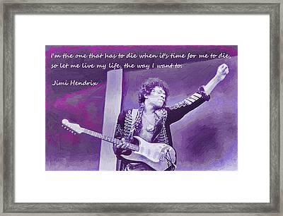Jimi Hendrix Purp Framed Print