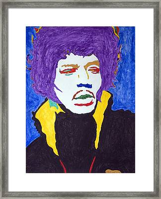 Jimi Hendrix Purple Haze  Framed Print