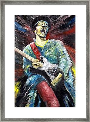Jimi Hendrix Spanish Castle Magic Framed Print