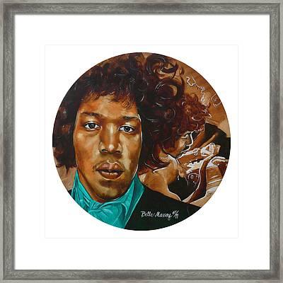 Jimi Hendrix W Framed Print